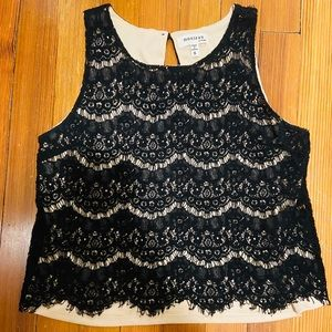 Lace tank tops blouse size S